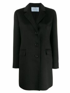 Prada classic single breasted coat - Black