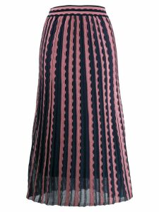 M Missoni knitted midi skirt - Blue
