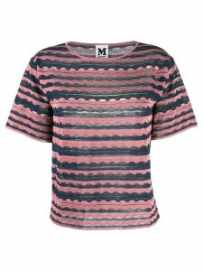 M Missoni patterned knitted top - Pink