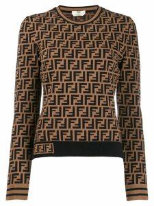 Fendi FF monogram jumper - Brown