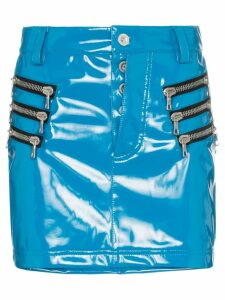Unravel Project zip-pocket mini skirt - Blue