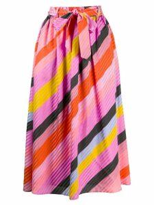 Stine Goya Audrey Parallels Silk Skirt - Pink
