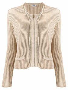 Liu Jo zipped front cardigan - Neutrals