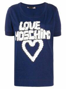 Love Moschino cloud logo T-shirt - Blue