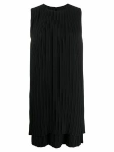Victoria Victoria Beckham pleated shift dress - Black
