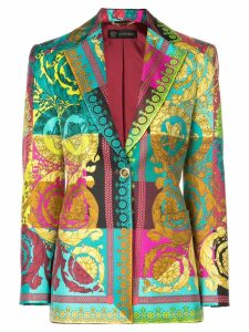 Versace multicoloured signature print blazer