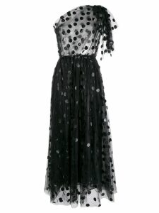 MSGM polka dot tulle dress - Black