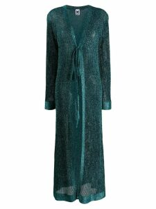 M Missoni lurex maxi cardi-coat - Blue