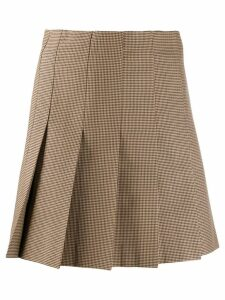 MSGM pleated mini skirt - Brown