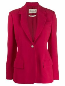Roberto Cavalli single-breasted blazer - Red
