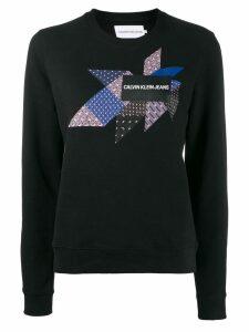 Calvin Klein Jeans quilt graphic sweatshirt - Black