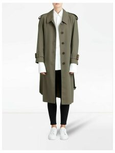 Burberry Side-slit Tropical Garbadine trench coat - Green