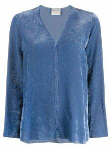 Forte Forte V-neck ribbed sweatshirt - Blue