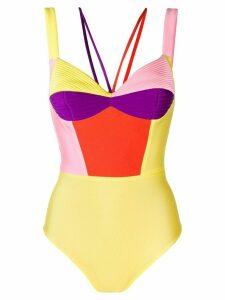 Fausto Puglisi colour-block bodysuit - Yellow