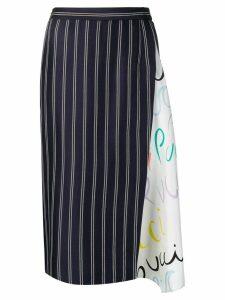 Emilio Pucci Pucci Pucci-Print Insert Skirt - Blue