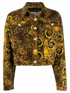 Versace Jeans Couture leopard print jacket - Yellow