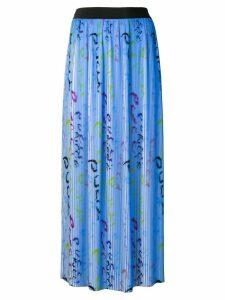 Emilio Pucci Pucci Pucci Print Plissé Pleated Skirt - Blue