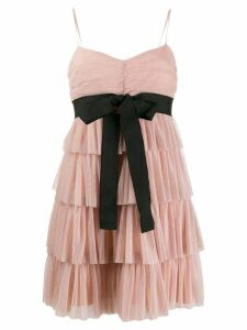 Red Valentino tulle tiered mini dress - NEUTRALS
