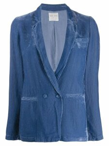 Forte Forte ribbed double-breasted blazer - Blue