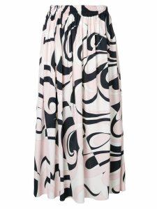 Emilio Pucci Fortuna Print Midi Skirt - Pink