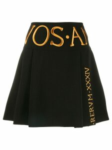 Moschino embroidered logo a-line skirt - Black