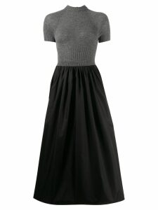Prada jumper panelled dress - Black