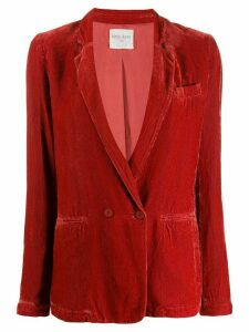 Forte Forte ribbed double-breasted blazer - Red