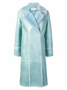 Emilio Pucci Aqua Blue Shearling Coat