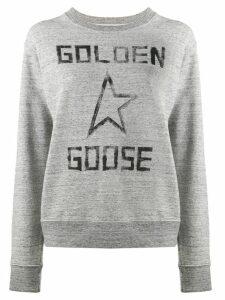 Golden Goose Aiako logo sweatshirt - Grey