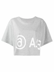 Mm6 Maison Margiela cropped T-shirt - Grey
