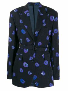 Christian Wijnants floral blazer - Blue