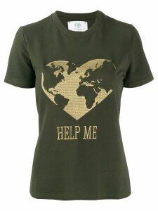 Alberta Ferretti Help Me embroidered T-shirt - Green