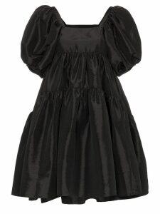 Cecilie Bahnsen tiered puff sleeve dress - Black