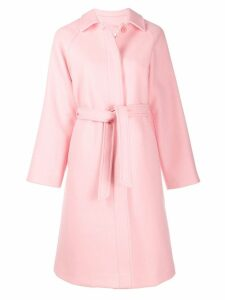 Red Valentino belted single breasted coat - PINK