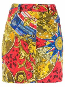 Moschino printed denim skirt - Red