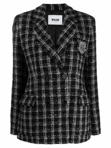 MSGM double breasted tweed jacket - Black