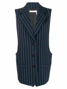 See By Chloé pinstripe longline waistcoat - Blue