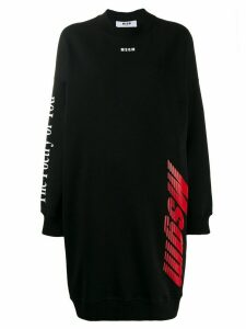 MSGM sweatshirt dress - Black
