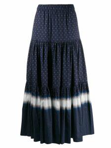 Tory Burch printed peasant skirt - Blue