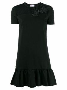 Red Valentino bird appliqué dress - Black