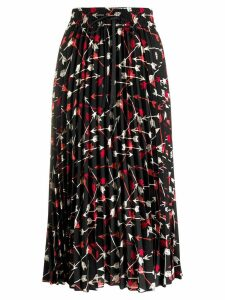 Red Valentino arrow print skirt - Black
