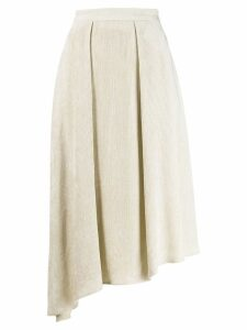 Isabel Marant asymmetric corduroy skirt - Neutrals