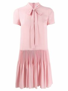 Red Valentino pleated skirt dress - Pink