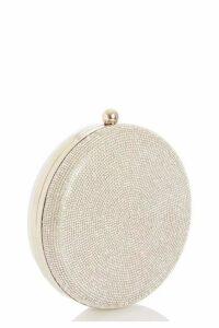 Quiz Silver Diamante Box Bag