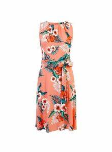 Womens **Billie & Blossom Coral Floral Print Dress- Pink, Pink