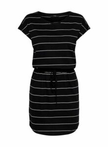 Womens **Only Black Short Sleeve Tennis Dress- Black, Black
