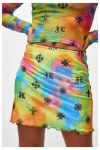 Womens **Mesh Skirt By Jaded London - Multi, Multi