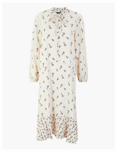 M&S Collection Printed Relaxed Fit Midi Dress