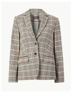 M&S Collection Checked Slim Fit Blazer