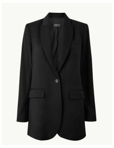 M&S Collection Wool Single Breasted Blazer